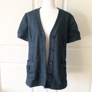 Tabitha Anthro Tweed Short Sleeved Blazer/Size 12